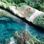 Deep rockpool below the Mele waterfall
