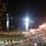 at night. decoration on the periphery of nakki lake was for ganpati visarjan.