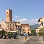 Hotel al Castello , castle, mountains and surrounding square.