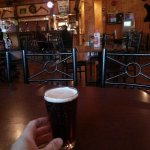 Relaxing at the Cariboo Lodge pub