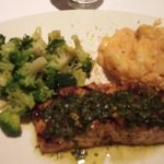 Norwegian salmon (special) with broccoli and potatoes, all very good.