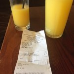 EXPENSIVE DRINKS PINT AND A HALF OF ORANGE JUICE AND LEMONADE £7.10