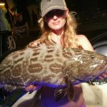 Daughter caught Grouper a few miles from Hawk's Cay Resort