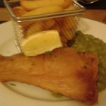 Gorgeous fish and chips.