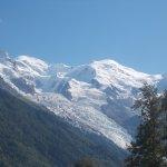 le Mont Blanc vu du Brévent avec le glacier des Bossons