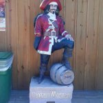 "HE lives at Clayton's...the Spirits of Capt. Morgan through drums of RUM, ""Ron""."