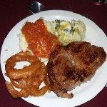 Our steaks were juicy and tender