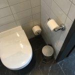 Toilettendeckel schließt langsam und eigenständig. Alles sehr sauber.