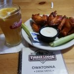 Harvest craft tap beer and hot wings... looks can deceive!