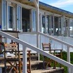 esterno, veranda sulla spiaggia