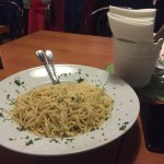 Spaghetti is excellent and big dish. Soups are good also but little salty. Pizza also great