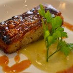 Pork belly with crackling and apple sauce