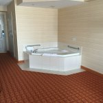 The in room hot tub