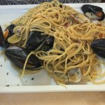 Spaghettis aux fruits de mer - très réussi