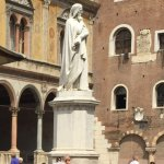 Statue of Dante presiding over this beautiful piazza!