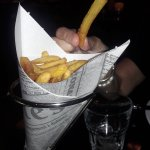 special served french fries