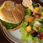 Chicken burger w/salad upgrade
