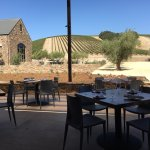 Patio dining at the Niner Winery Restaurant