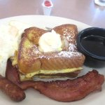 French Toast, Eggs, Bacon, Sausage, Mil's Diner, Milpitas, CA