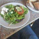 La Buvette Salad and Hot Grilled Sandwich