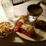 Surf and turf with peanut coleslaw
