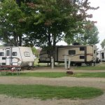 The campground at Presque Isle