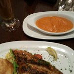 Blackened Catfish and Sweet Potatoes (I ordered it without the glaze on the sweet potatoes)