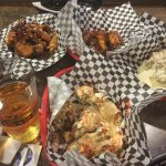 The BEST wings--Black Venom, hypocritical ranch, blue moon, and PB&J!
