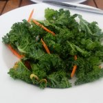 """Dino kale"" salad...not a pumpkin seed in sight"