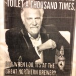 This was in the women's stall and my husband & I love this Dos Equis man!