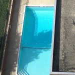 Pool has a little something growing on the left side there.