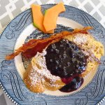 French toast w blueberry sauce