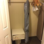 Closet with iron, board & safe