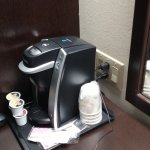 Keurig coffee machine and accessible outlets