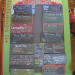 The menu board.