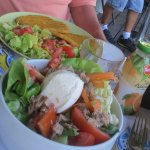 サラダとカツレツ