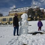 We made a snow man before the Chateau