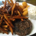 Chopped steak platter. Tasty and hearty.