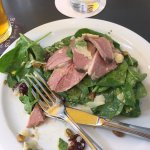 Smoked duck salad -- best salad ever!