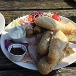 Ploughmans platter to share - very tasty and great value