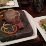 baseball steak on a hot rock