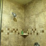 The master bath shower is enormous and beautiful.