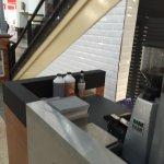 side counter of coffee establishmemnt