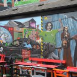 Murals in the courtyard of the Duke of York pub