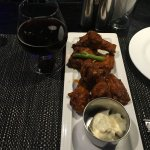Delicious buffalo wings and blue cheese dip!!
