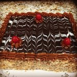 Napoleons: Layered purr pastry cake with Caramel or custard...