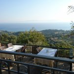 View from the terrace  None better in Skala