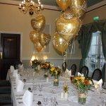 Room set up for Golden Wedding
