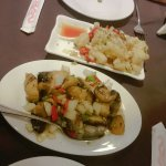 Salt & Pepper Squid along with Salt & Pepper Mushrooms (Starters)
