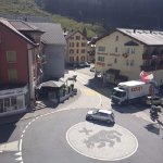 The roundabout beside the hotel-the way to the Oberpass